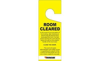 Bearacade - 25 Room Cleared Door Tags - Yellow