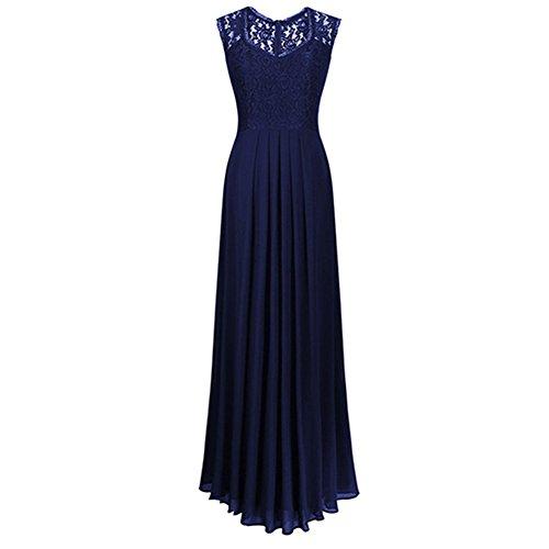 Dressray Women's Casual Deep- V Neck Sleeveless Vintage Maxi Black Dress XL Black (Cheap Fancy Dress Plus Size)