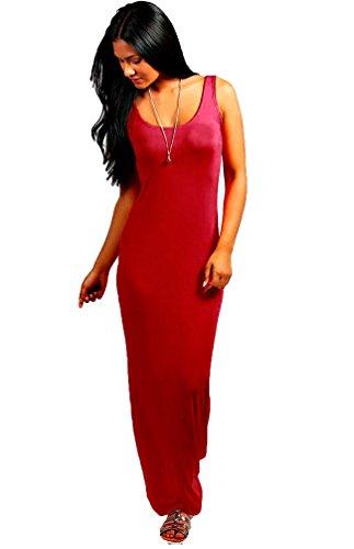 TrendyFashion - Vestido - Básico - Sin mangas - para mujer Wine