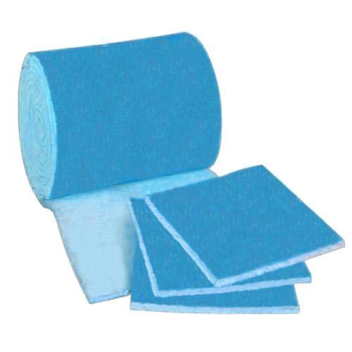 HVAC/Air Filter Media Roll, Blue/White MERV6 Polyester Media - 1 inch x 24 inch x 24 Foot