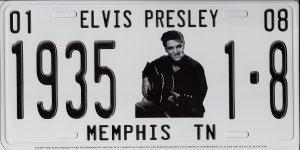 Elvis With Guitar Memphis TN Metal License Plate ()