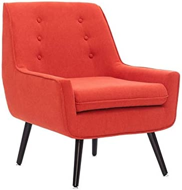 Linon Trelis Wood Upholstered Accent Chair