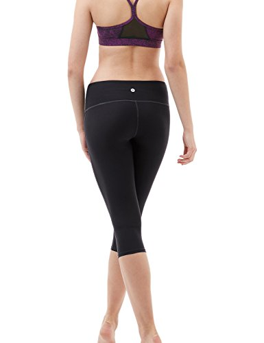 TM-FYP21-BLK_Small Tesla Yoga 17'Capri Mid-Waist Pants w Hidden Pocket FYP21