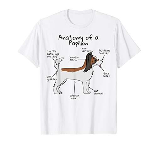Funny Papillon Anatomy T-Shirt Dog Tee (Light)