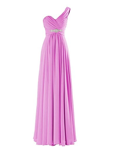 Dress Gowns Shoulder Evening One Long CaliaDress Women C198LF Prom Bridesmaid Lilac wq0WIA
