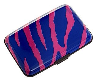 (Plixio Purple & Pink Zebra Aluminum Wallet & Credit Card Case with RFID Protection)