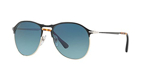 Persol Mens Sunglasses Black Matte/Blue Metal - Polarized - - Sunglasses Matte Persol Black
