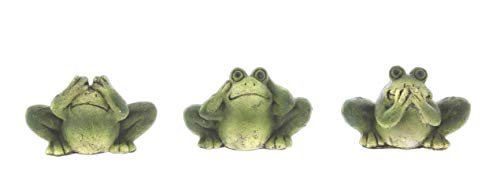 Hear No Evil Frogs - Distinctive Designs Set of 3 'See, Hear, Speak No Evil' Frog Figurines