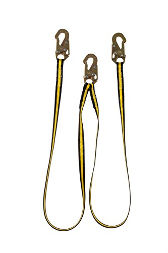 Guardian Fall Protection 01270 6-Foot Double Leg Non-Shock Absorbing Lanyard