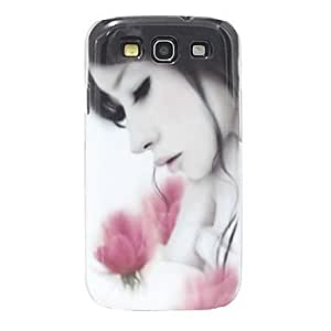Flowers & Girl Pattern Hard Case for Samsung Galaxy S3 I9300