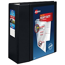 Avery Heavy-Duty Reference View Binder with 5 Inch EZD Rings, Black (79606) by Avery