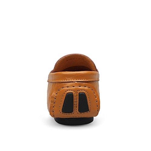 Minitoo LHUS-LH1598 - Mocasines de Material Sintético Para Hombre marrón