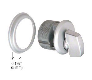 CRL Satin Aluminum Finish Mortise Thumbturn Cylinder by C.R. Laurence