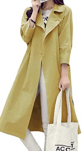 Giallo Del Donne Giacca Donne Abbigliamento Peacoat Giacca Risvolto Leggera Casual Vento Gocgt Lavoro A Da 6d7qnt7w