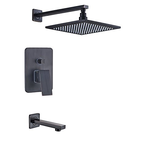 - Rozin Wall Mounted 2-way Shower Kit 8-inch Rainfall Showerhead with Tub Tap Oil Rubbed Bronze