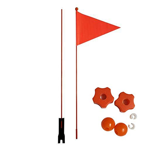 heirao4072 Bike Safety Flag With Pole With 2-Foot Height Heavy Duty Pole, Tear-Resistant Children Bike Safety Triangular…