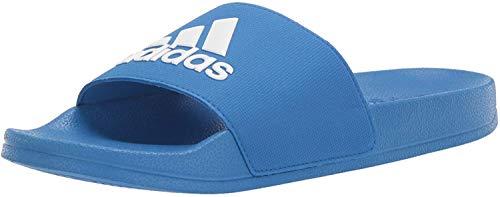 adidas Unisex Adilette Shower, True Blue/White/True Blue, 6 M US Big Kid