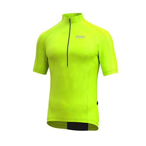 FDX Cycling Jersey Half Sleeve Biking Top Breathable Fabric HiViz Biking Top