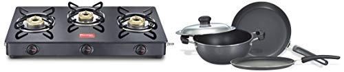 Prestige Aluminum Fry Pan, Omni Tawa, Kadai Set