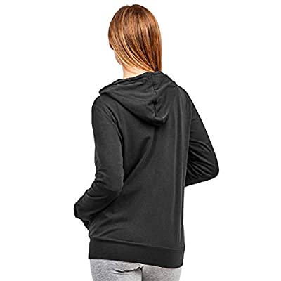 Women's Zip Up Cotton Light Hoodie Jacket at Women's Clothing store