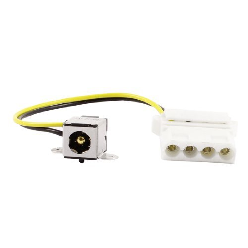 Amazon.com: eDealMax Centro 5,5 mm x 2,5 mm Pin PJ207 DC de conector Jack w 4 clavijas del Cable Para el ordenador PC: Electronics