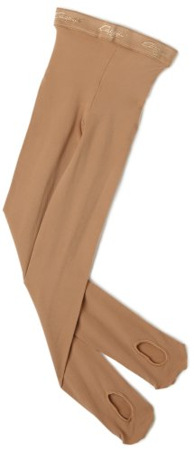 Capezio Little Girls' Ultra Soft Transition Tight, Caramel, One Size (Kid 2-6)