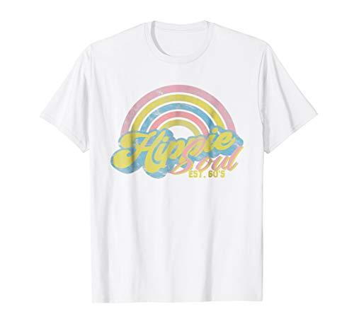 Hippie Soul Est. 60s Shirt - Retro Rainbow Birthday Gift