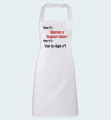 Humour Maman a Toujours raison Yonacrea Tablier de Cuisine