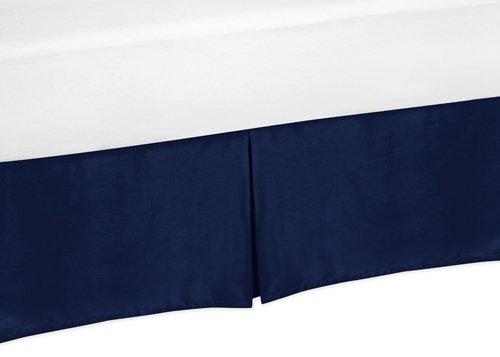 Sweet Jojo Designs Navy Toddler Bed Skirt for Modern Blue an