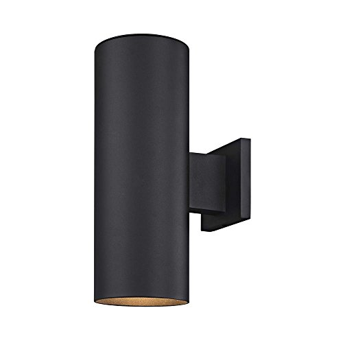 Cylinder Up/Down Outdoor Wall Light in Powder Coated Black - Classic Fixture Outdoor