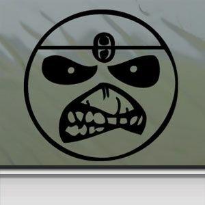Smile Face Eddie Iron Maiden Band Black Sticker Decal Car Window Wall Macbook Notebook Laptop Sticker Decal (Iron Maiden Window Decal compare prices)
