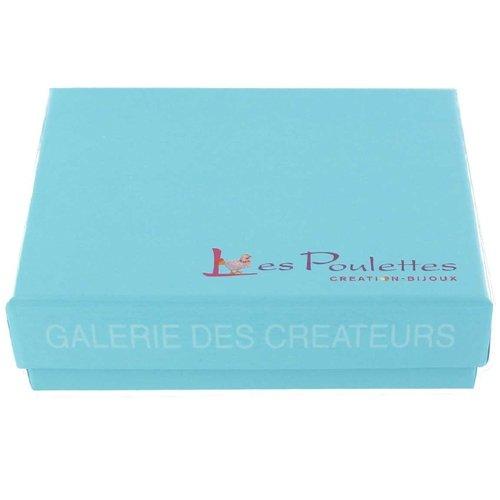 Les Poulettes Bijoux - Bracelet Cuir et Maille Carrée Argent 925 - Cuir Violet