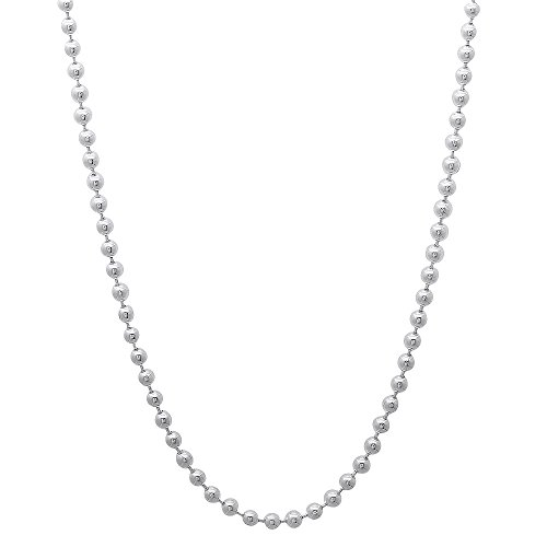 2.2mm Solid 925 Sterling Silver Pallini Style Bead Italian Chain, 16