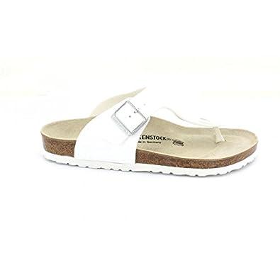 67fce61d180b Birkenstock Medina Birko-Flor ® Tong White Size  6  Amazon.co.uk ...