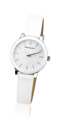 Women's Watch Pierre Lannier - 019K600 - WEEK-END LIGNE PURE - White - Leather Band by Pierre Lannier
