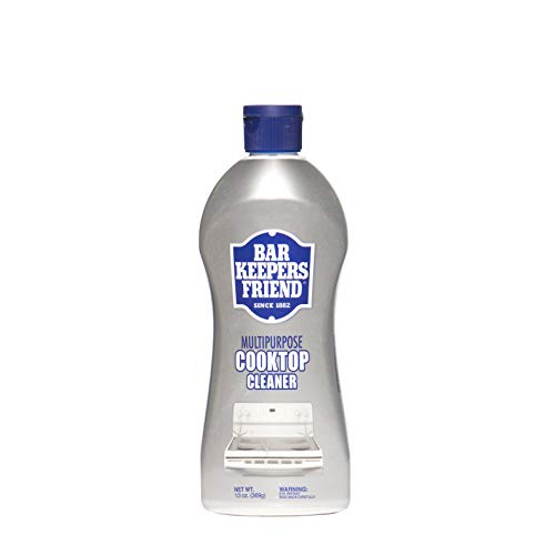 Bar Keepers Friend Multipurpose Cooktop Cleaner (13 oz) - Liquid Stovetop Cleanser - Safe for Use on Glass Ceramic Cooking Surfaces, Copper, Brass, Chrome, and Stainless Steel and Porcelain Sinks (Cleaning Porcelain Sink)