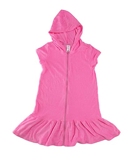 iDrawl Girls' Cover-ups Swimsuit Beach Dress Top, Short Sleeves Hooded Swimming Towel Cover Up