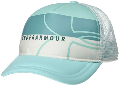 Under Armour UV Activated Trucker, White//Neo Turquoise, One Size Fits All