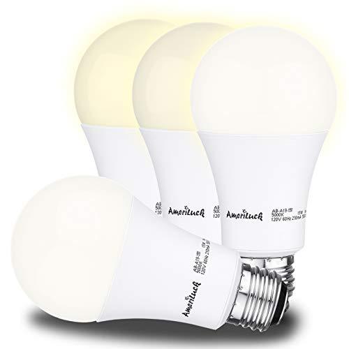 AmeriLuck 3000K Warm White 3-Way LED Light Bulb A19, 50-75-100W Equivalent, CRI80+, Omni-Directional (4 Pack) ()