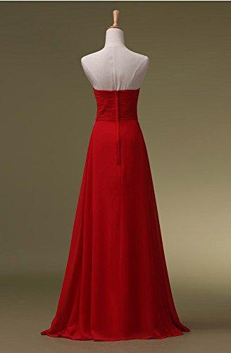 Pailletten lang Rot Maxi Trägerloses Abendkleider Emily förmlichen Beauty wgHTEnq