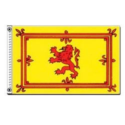 Scottish Rampant Lion Scotland Indoor Outdoor Dyed Nylon Flag Grommets 3' X 5'