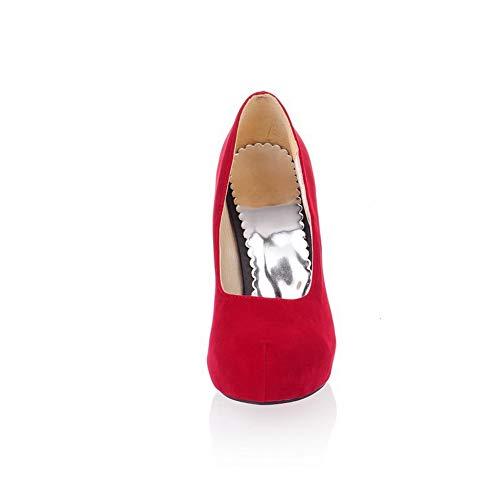 Zapatos Estructura BalaMasa con para uretano Rojo Plataforma de sólida APL10399 Mujer y UUr5aq