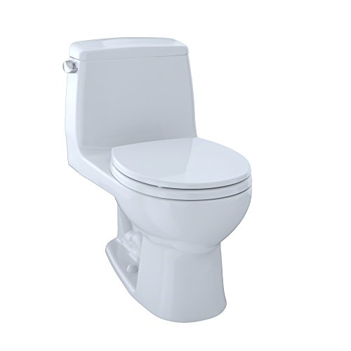 (TOTO MS853113#01 Ultimate Round One Piece Toilet, Cotton White)