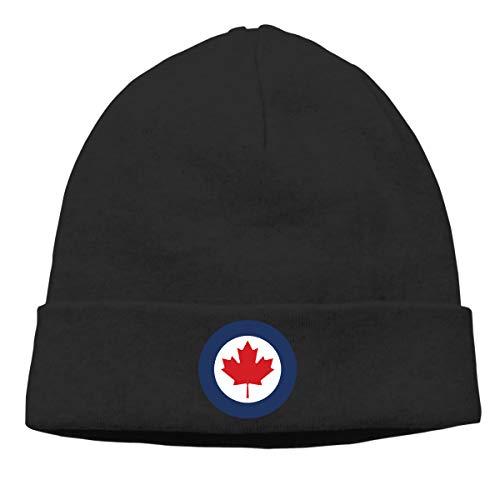 Nskngr Roundel of Canada Cap Men Women Serious Style Beanie Hats Knit Cuff Beanie Black