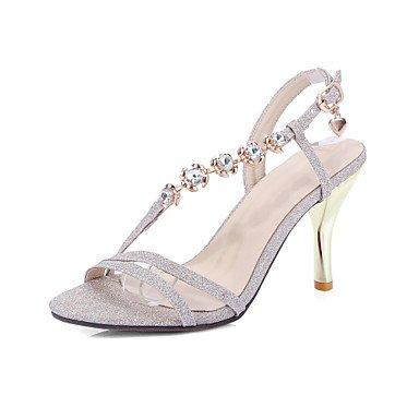 EU41 Silver 5 Heel Similpelle Gold Stiletto 5 US9 UK7 Luce Suole 8 Primavera 10 Rosa Sandali Casual RTRY CN42 Estate xnCqZZv
