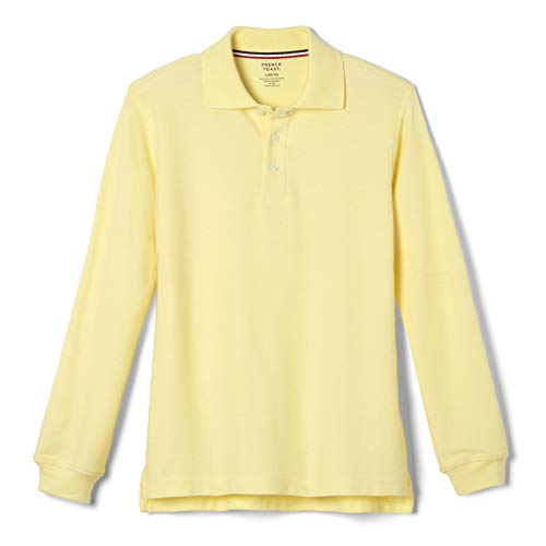 - French Toast Little Boys' Long-Sleeve Pique Polo Shirt, Yellow, Small/6-7