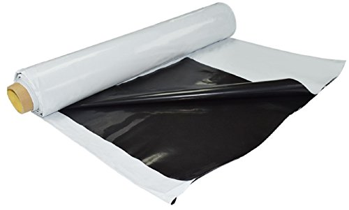 Black and White Poly Film/Heavy Duty Panda Film 10'' x 50' Waterproof Light-Proof Reflective Black/White Poly Sheeting Film for Greenhouse and Horticultural Use ()