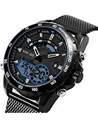 KOSSFER Mens Electronic Sport Quartz Wrist Watch