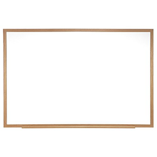 Ghent 4 x 12 Porcelain Magnetic Whiteboard, Wood Frame, 1 Marker, 1 Eraser, Made in the USA (M1W-412-4) ()