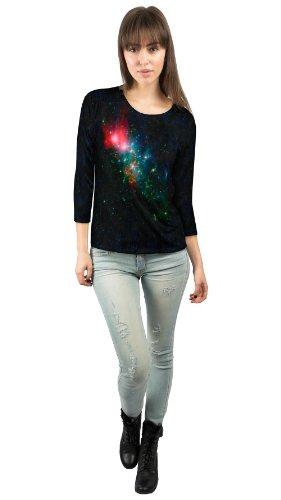Yizzam- Space Galaxy Nebulae NGC Chaotic Beauty -New Ladies Womens 3/4 Sleeve-4X